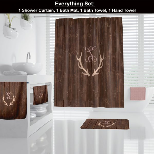 Antlers on Wood Bathroom Accessories