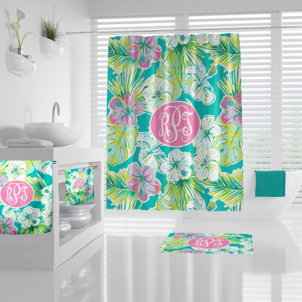 Hibiscus Bathroom Accessories