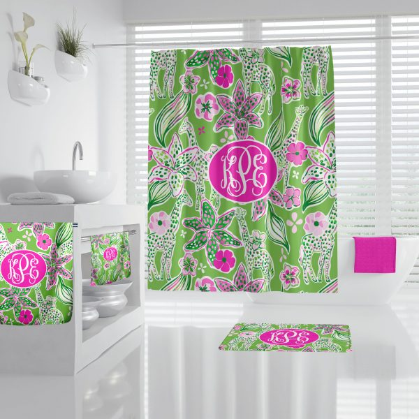 Floral Giraffe Bathroom Accessories