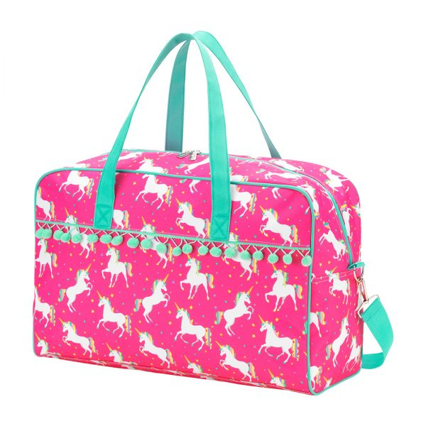 Unicorn Wishes Pom Pom Travel Bag
