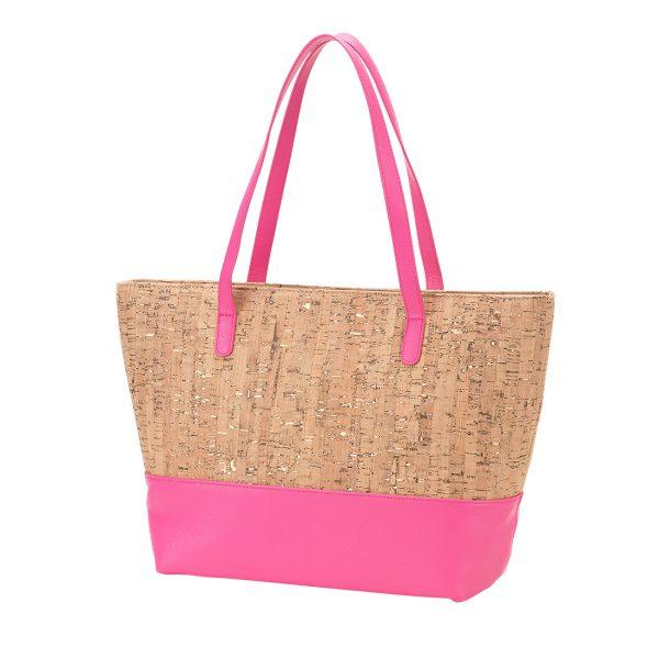 Hot Pink Cork Charlotte Purse